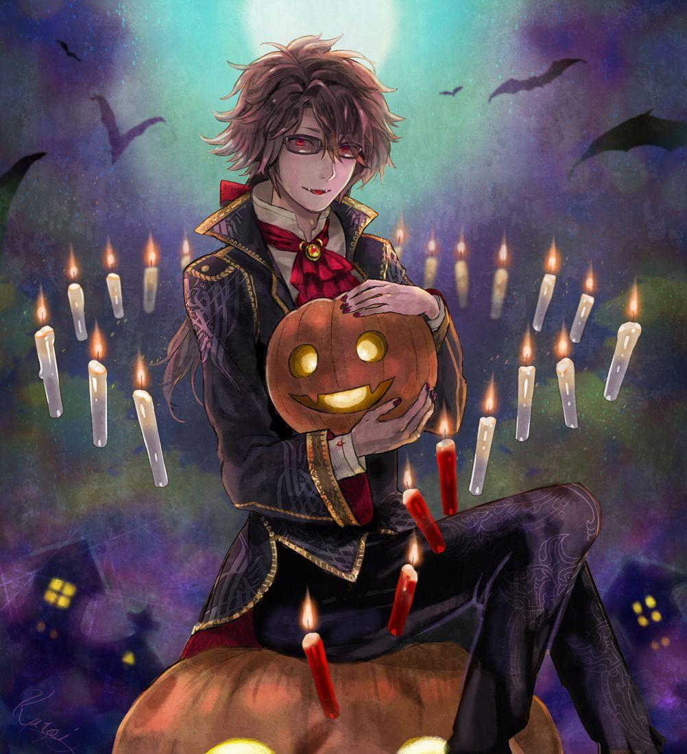 Ảnh anime boy halloween đẹp