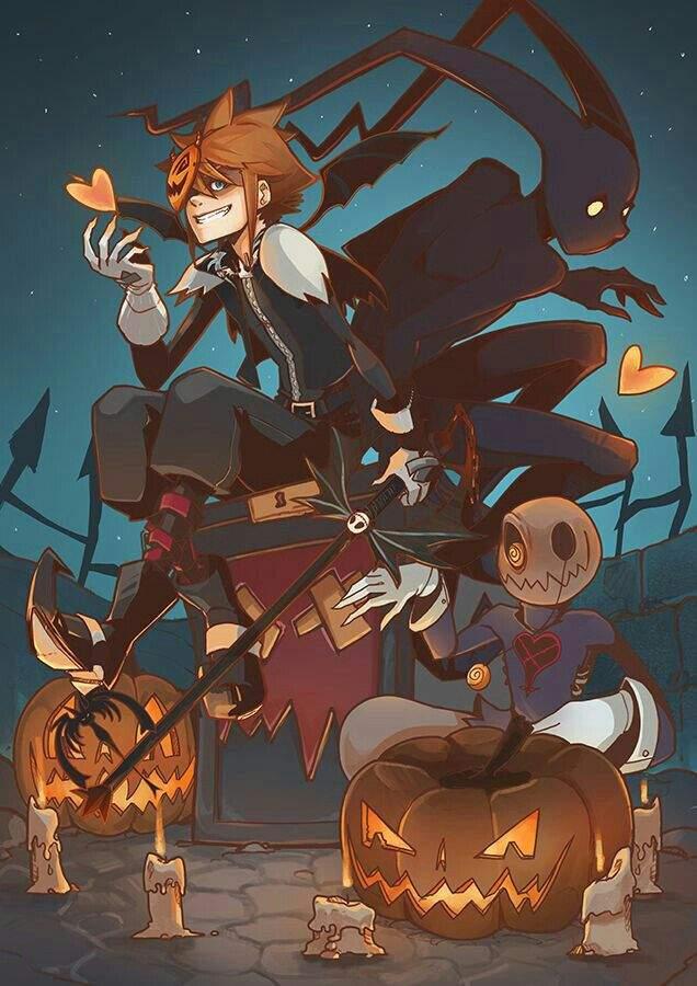 Ảnh anime boy halloween