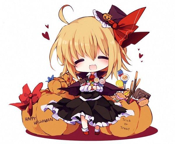 Ảnh anime girl halloween chibi
