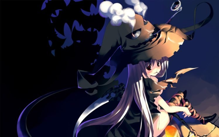 Ảnh anime girl hóa trang halloween