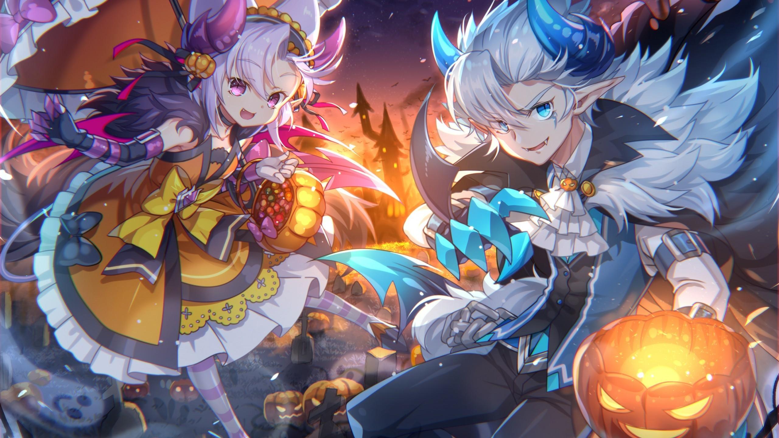 Ảnh anime halloween 2K