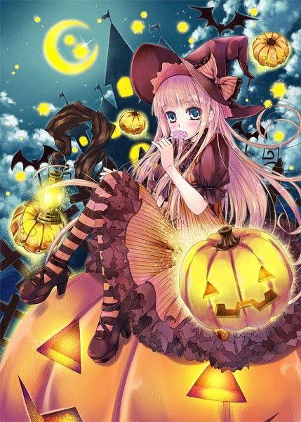 Ảnh anime halloween bí ngô