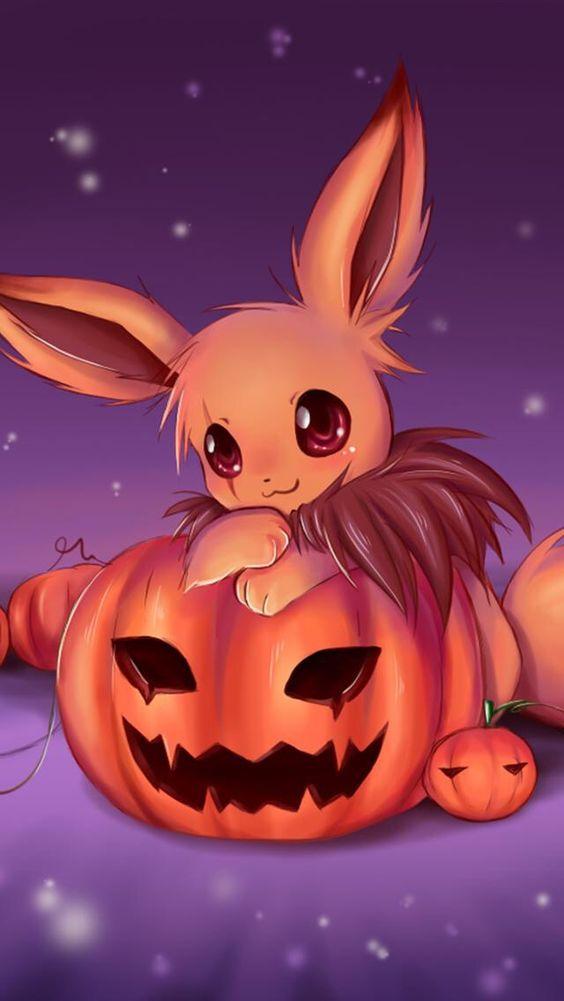 Ảnh anime halloween dễ thương