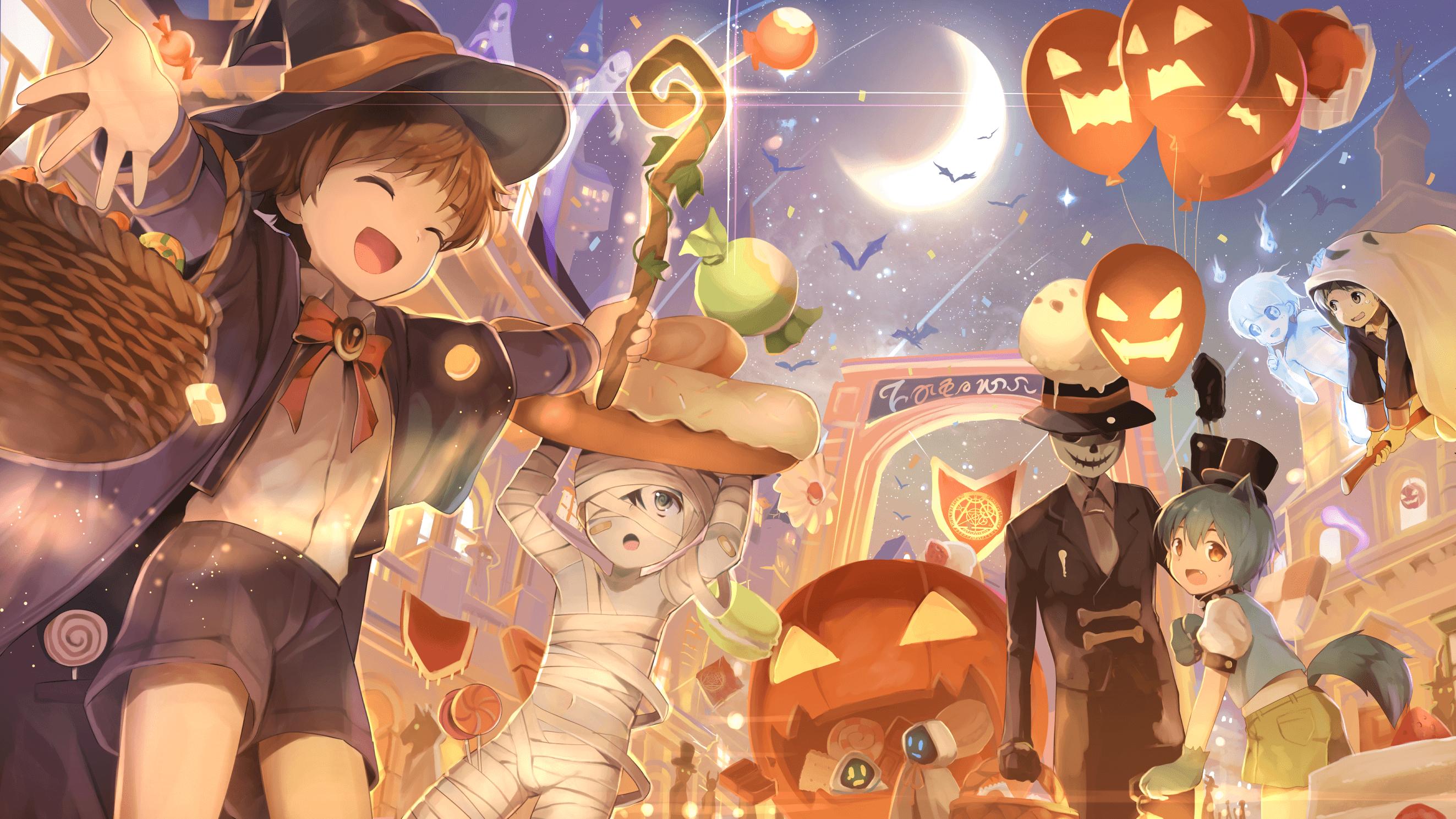Ảnh anime halloween vui nhộn
