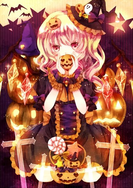 Ảnh anime hóa trang halloween