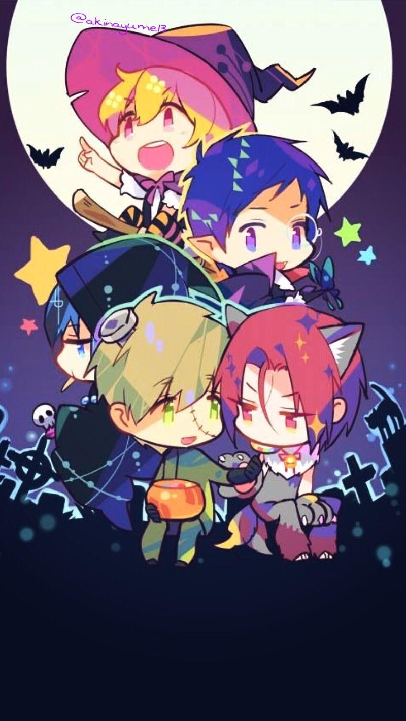 Ảnh nền anime halloween chibi