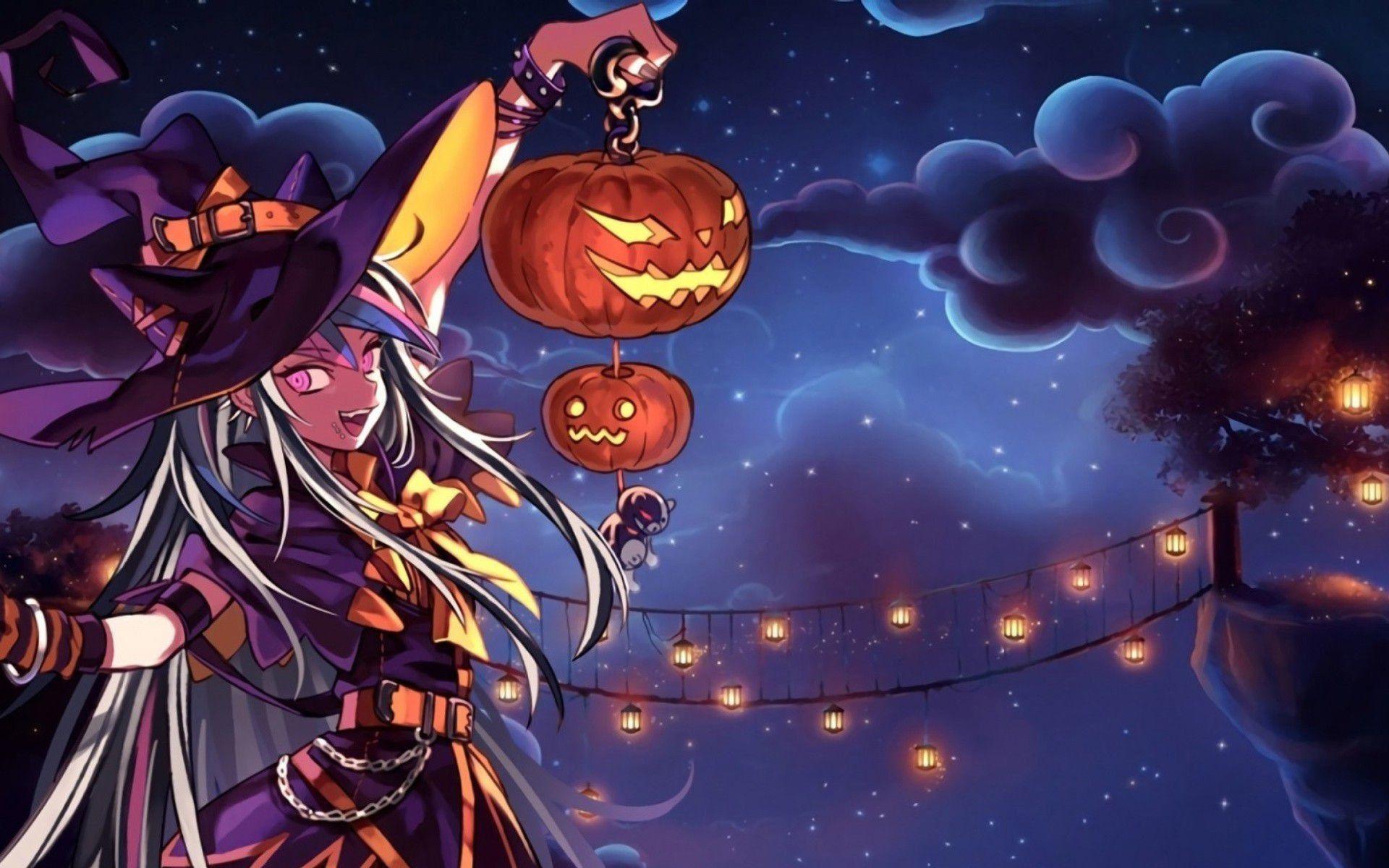 Ảnh nền anime halloween