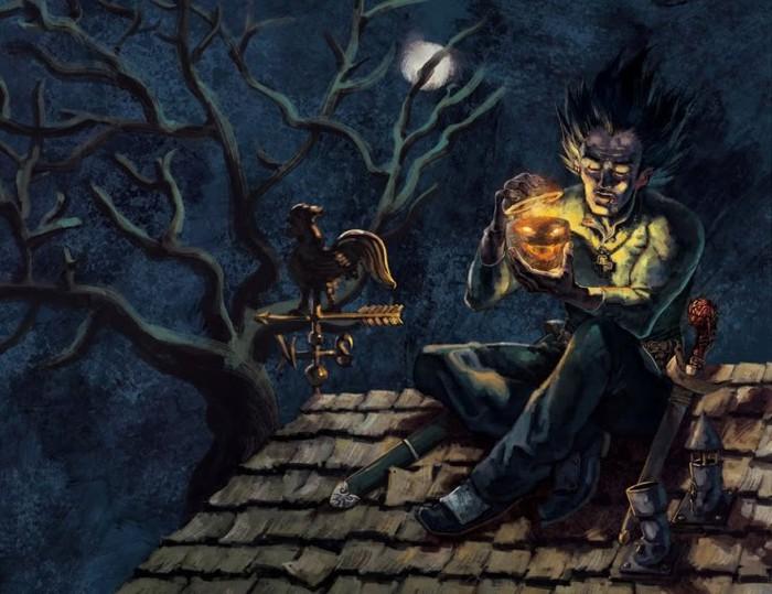 Bức tranh đề tài halloween