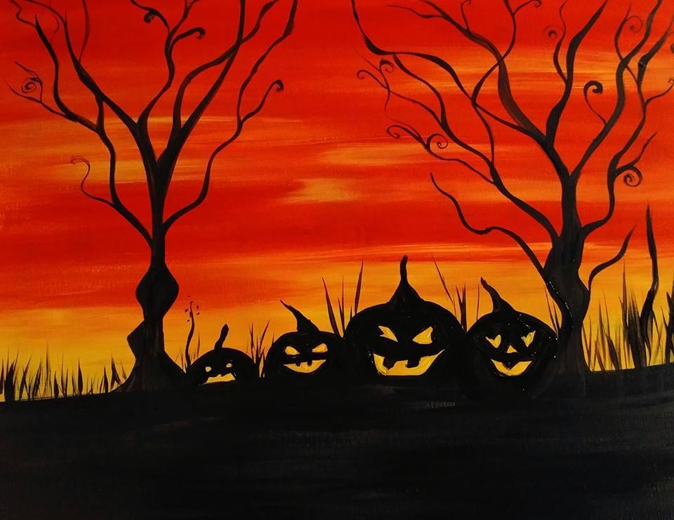 Bức tranh vẽ đề tài halloween