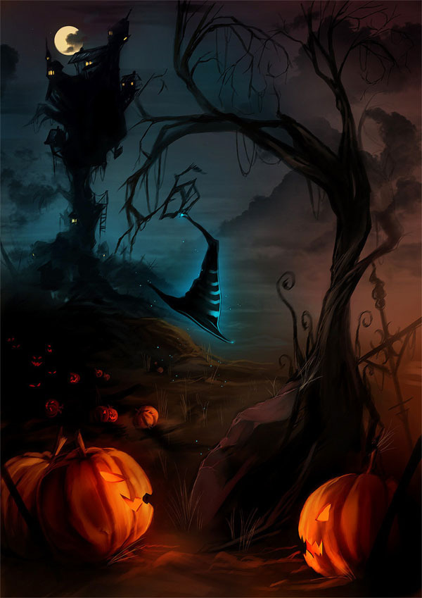 Bức tranh vẽ halloween