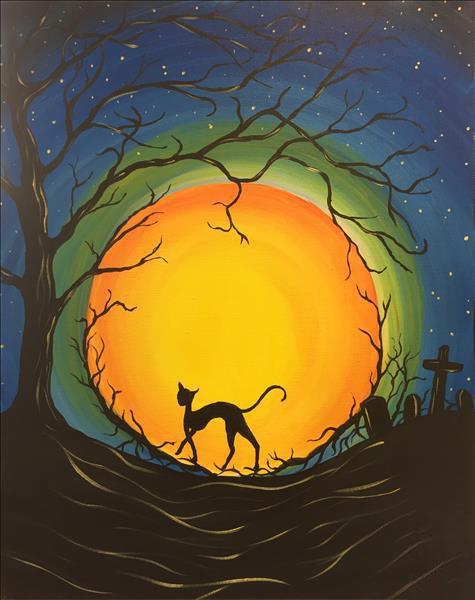 Bức tranh vẽ về halloween