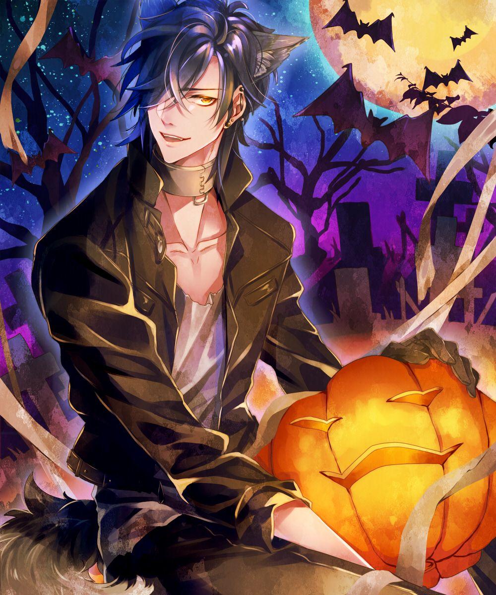 Hình ảnh anime boy halloween