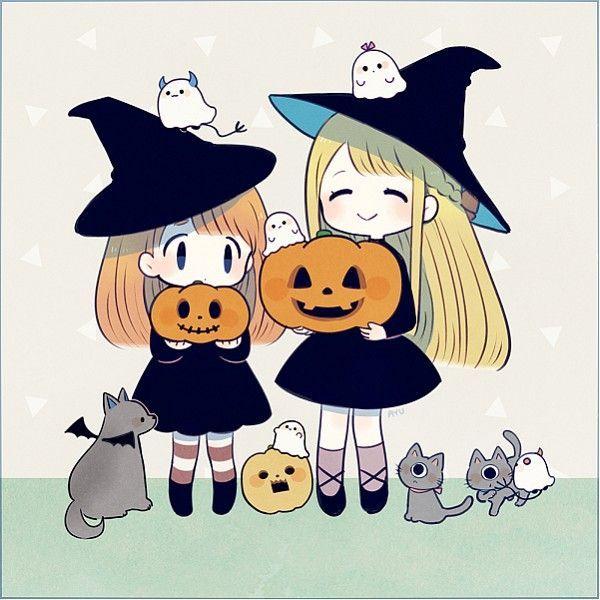 Hình ảnh anime halloween chibi