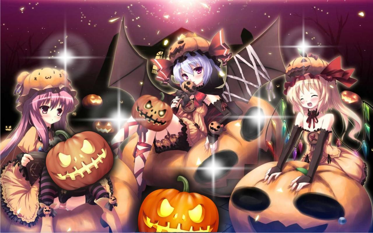 Hình ảnh anime halloween đẹp