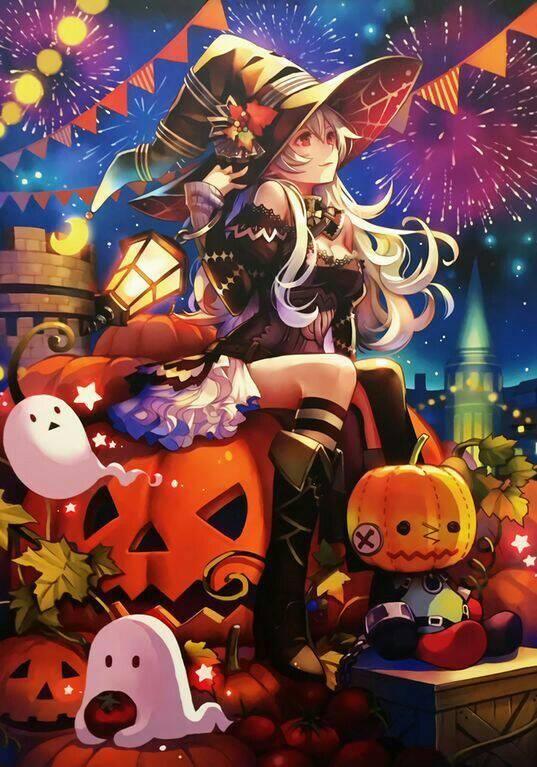 Hình ảnh anime halloween