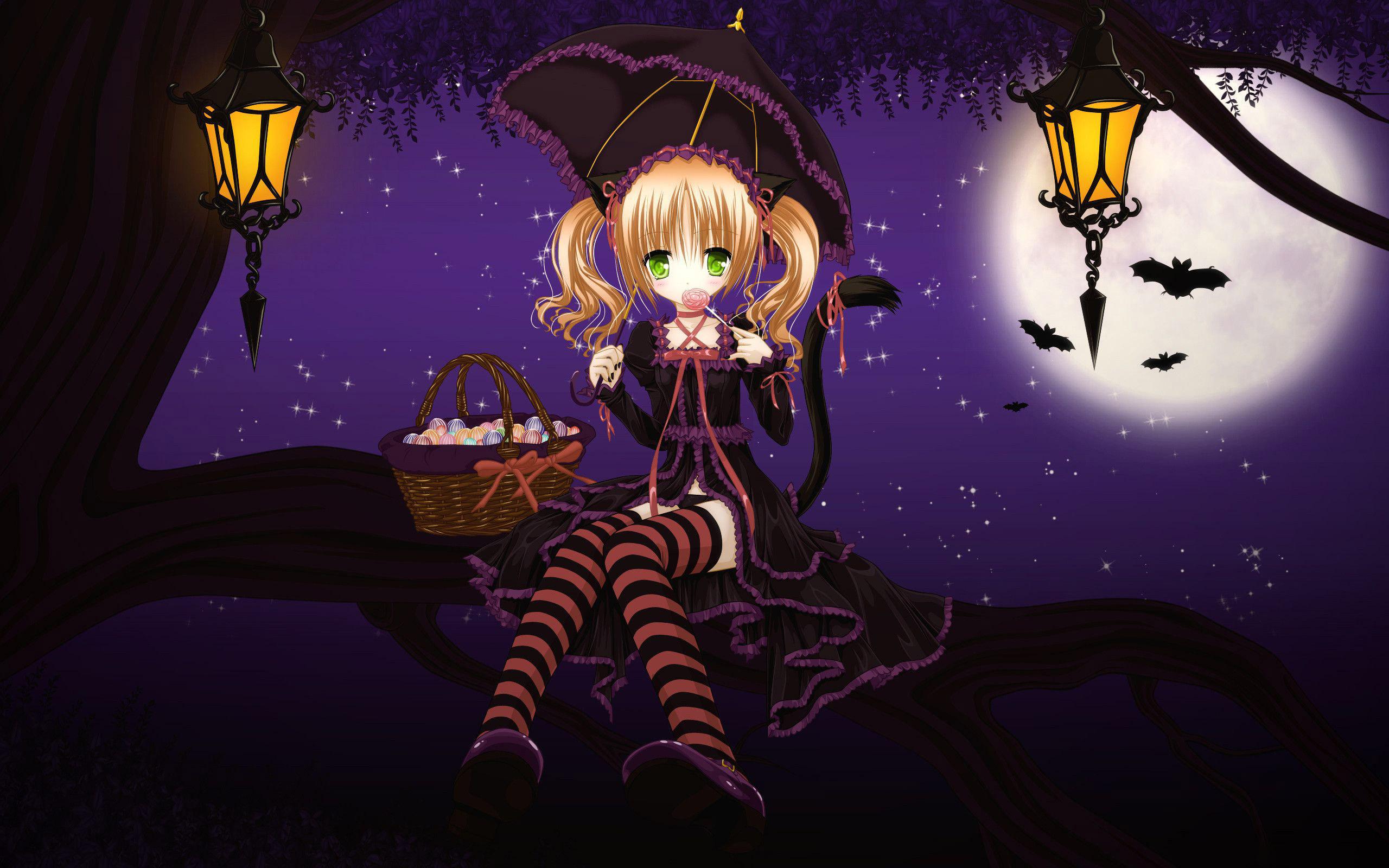 Hình anime girl halloween