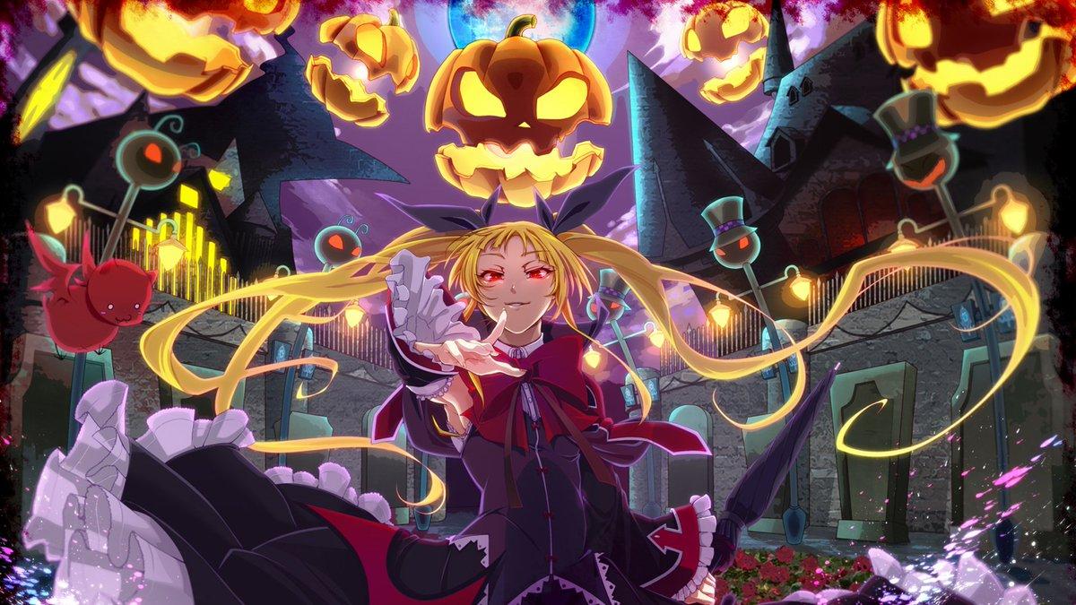 Hình anime halloween cực ngầu