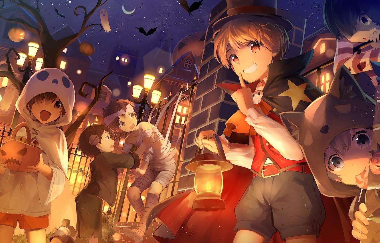 Hình anime halloween vui nhộn