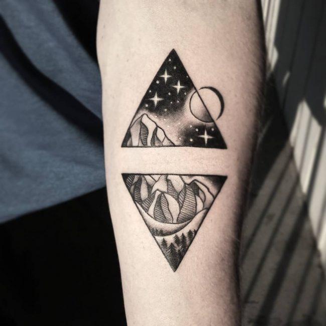 Hình xăm tam giác đôi