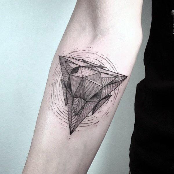 Hình xăm tam giác kim cương