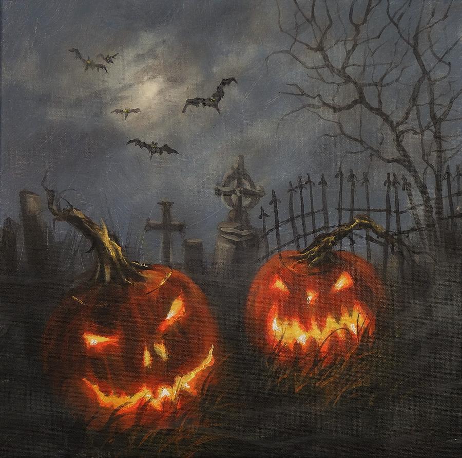 Tranh 3D halloween