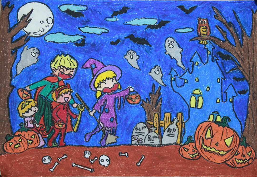 Tranh đề tài halloween