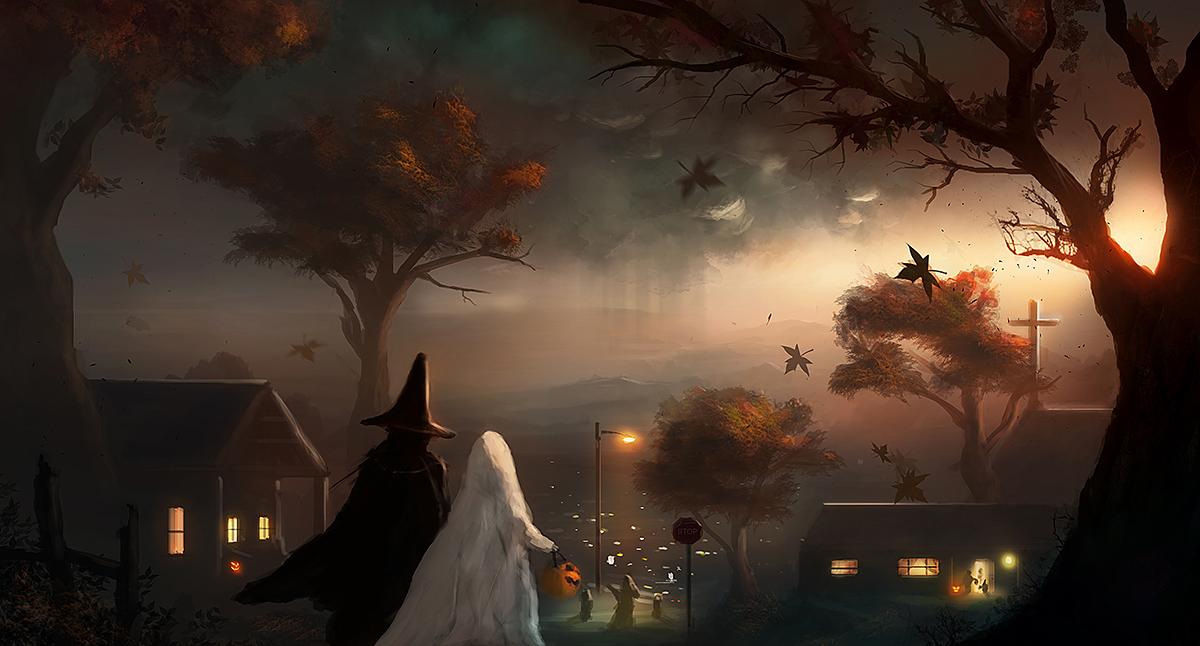 Tranh halloween cực đẹp