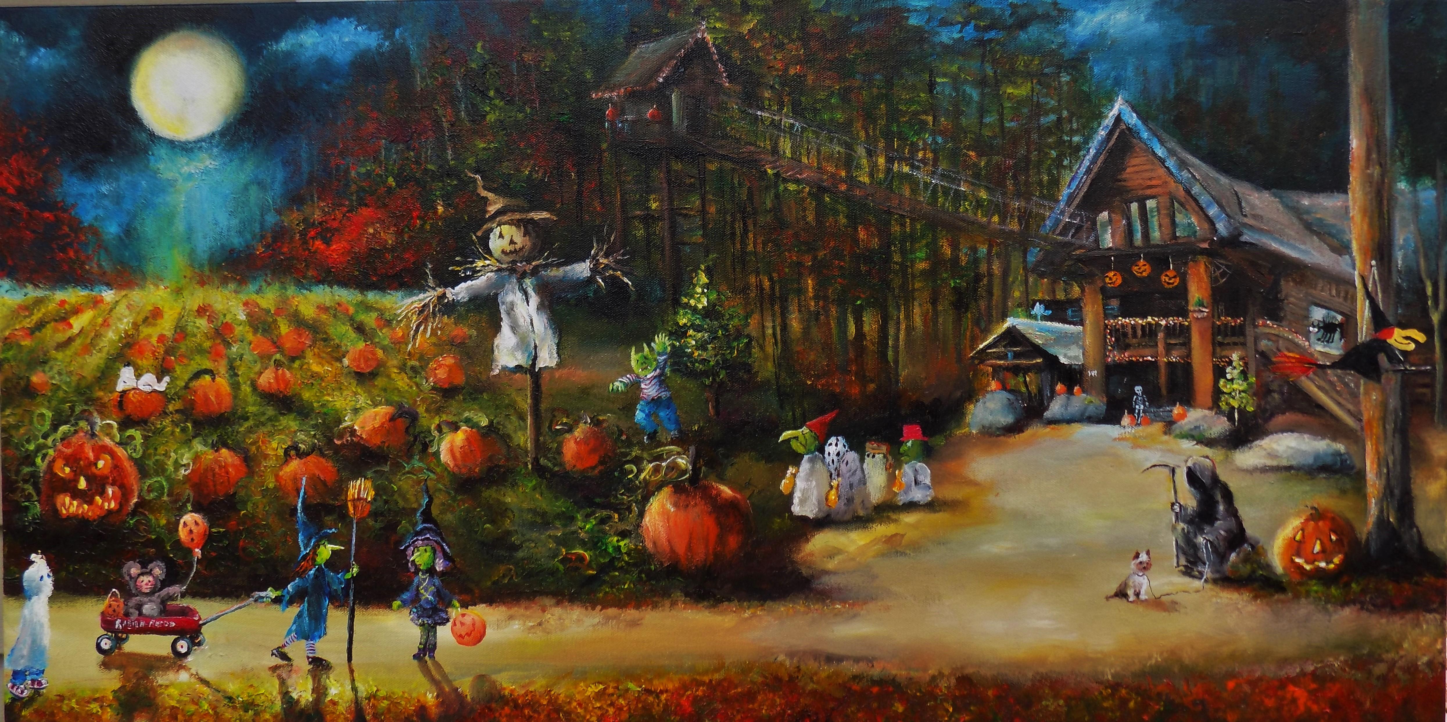 Tranh lễ hội halloween đẹp