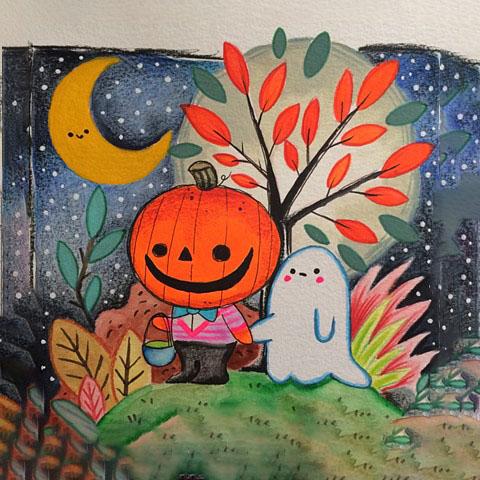 Tranh vẽ đề tài halloween đẹp