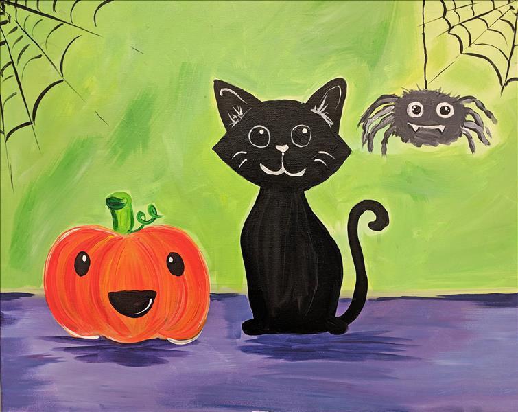 Tranh vẽ đề tài halloween đơn giản