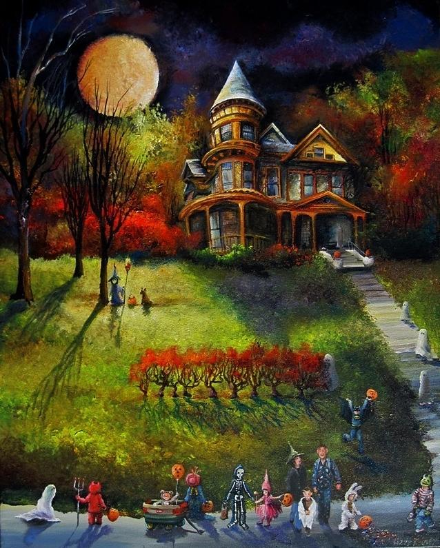 Tranh vẽ đêm halloween