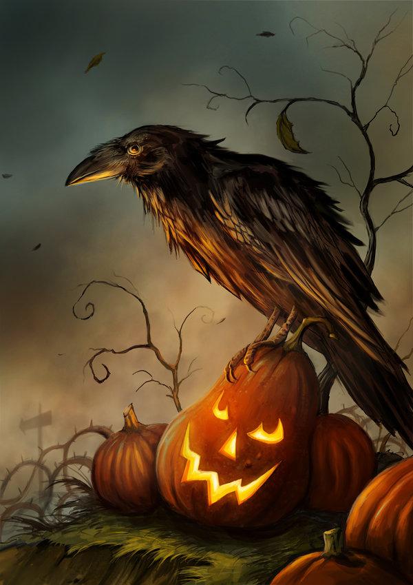 Tranh vẽ halloween 3D