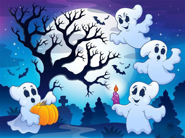 Tranh vẽ halloween cho bé