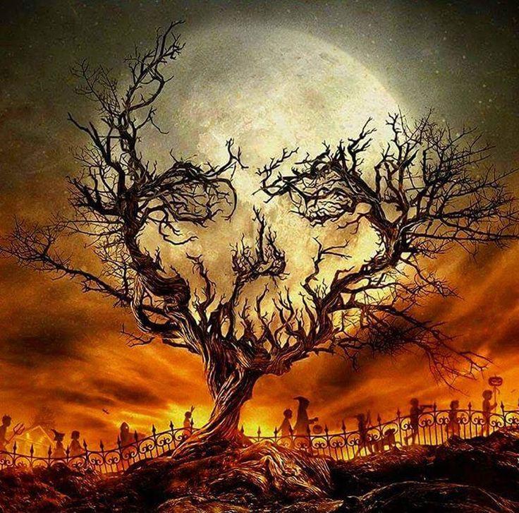 Tranh vẽ halloween cực chất