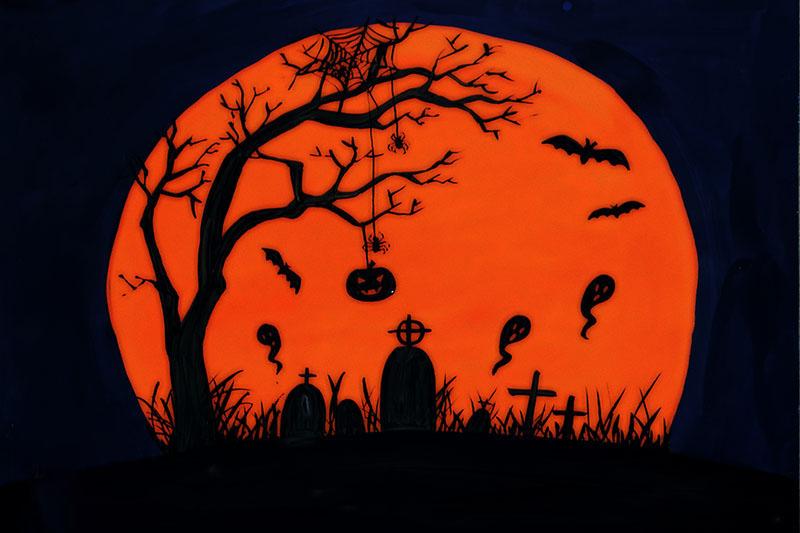 Tranh vẽ halloween