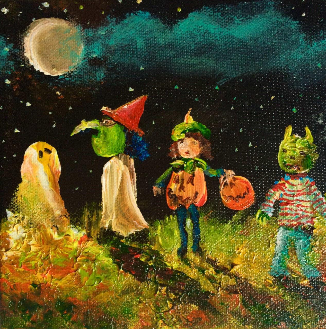 Tranh về halloween