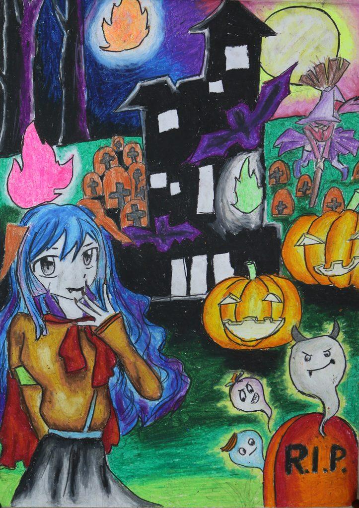 Vẽ tranh đề tài halloween