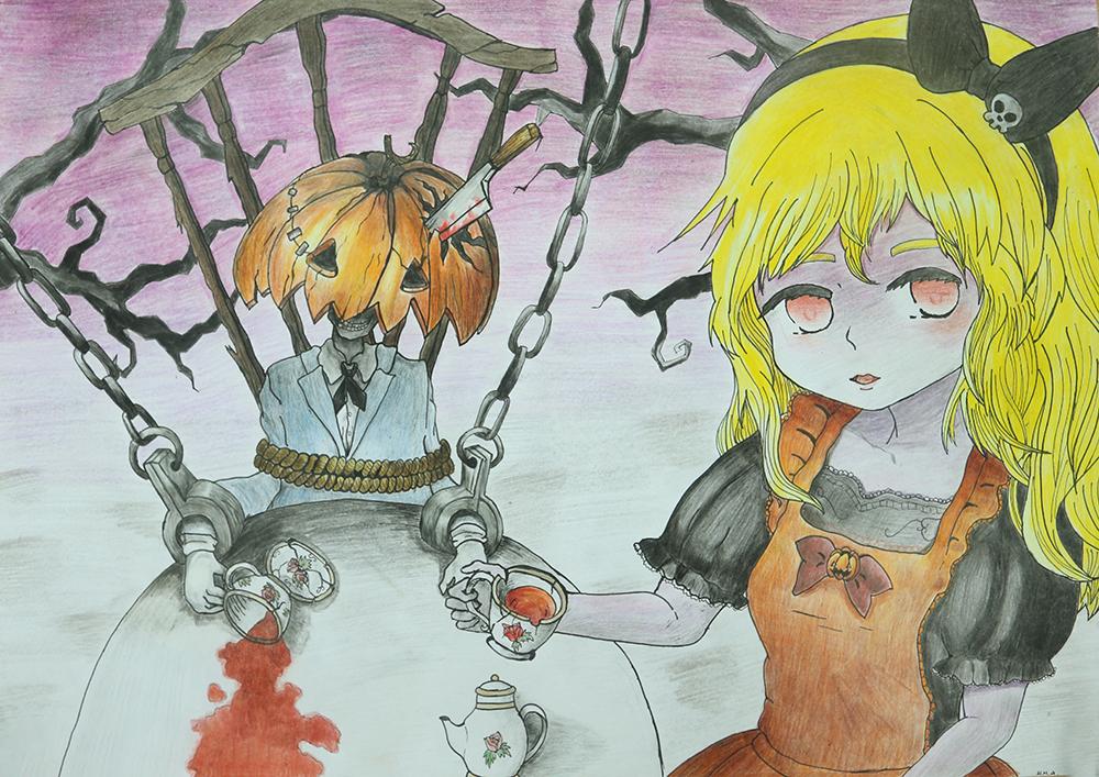 Vẽ tranh halloween