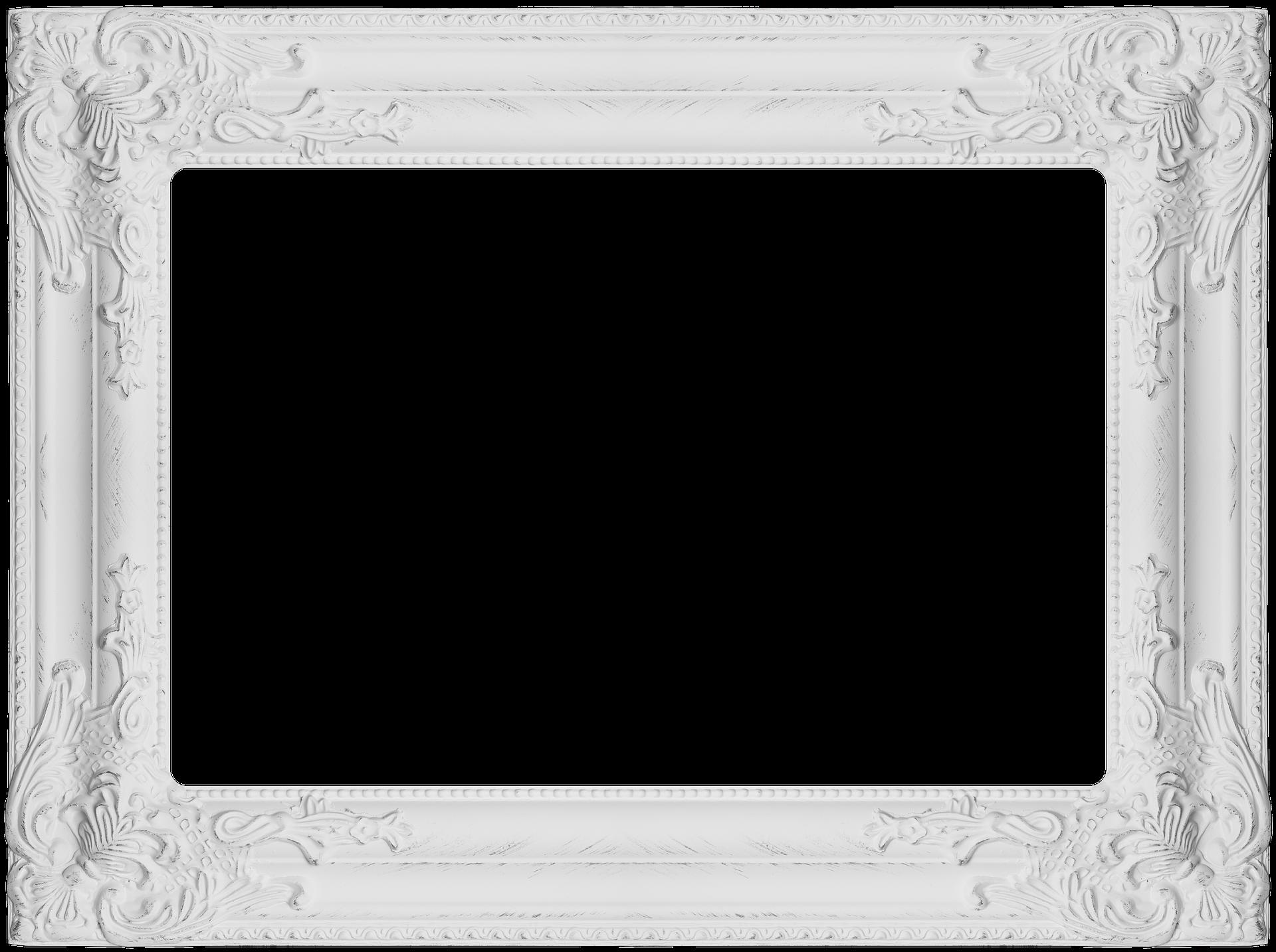 Frame ảnh màu trắng đẹp