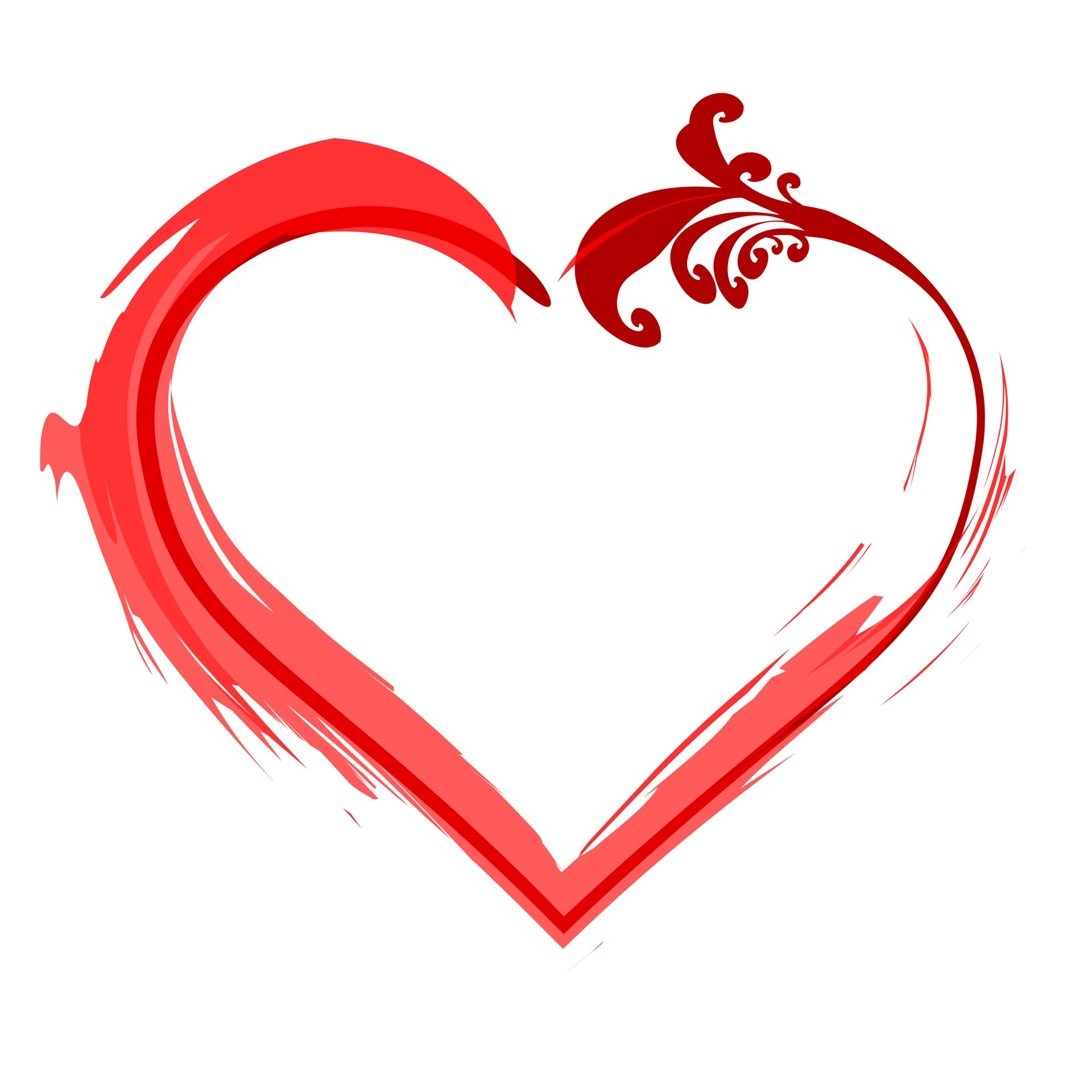 Frame hình trái tim ghép ảnh