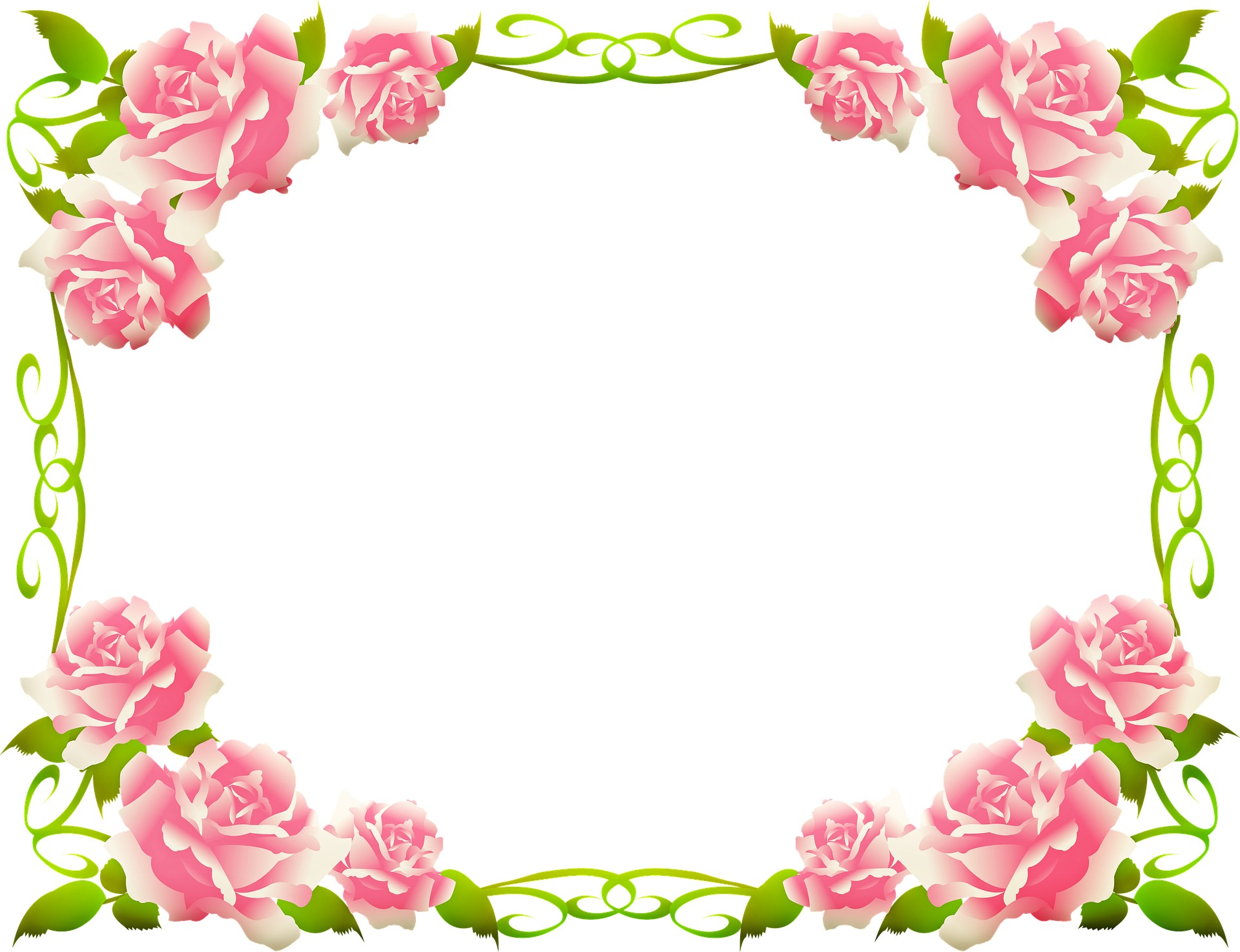 Frame khung ảnh hoa hồng