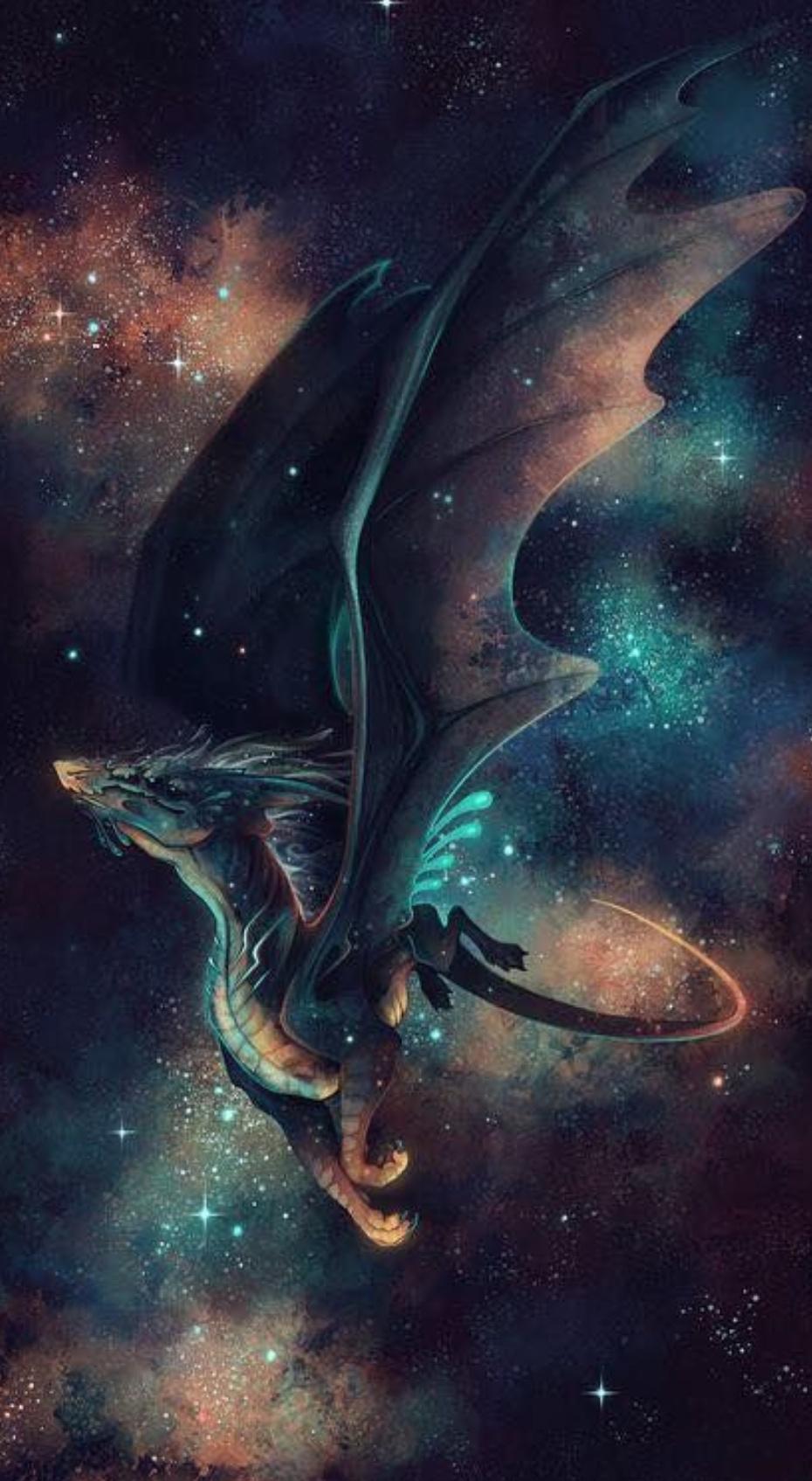 Hình nền rồng trong vũ trụ