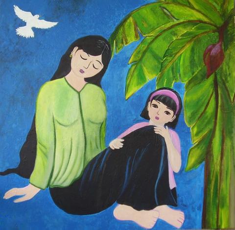 Tranh vẽ về mẹ và con gái