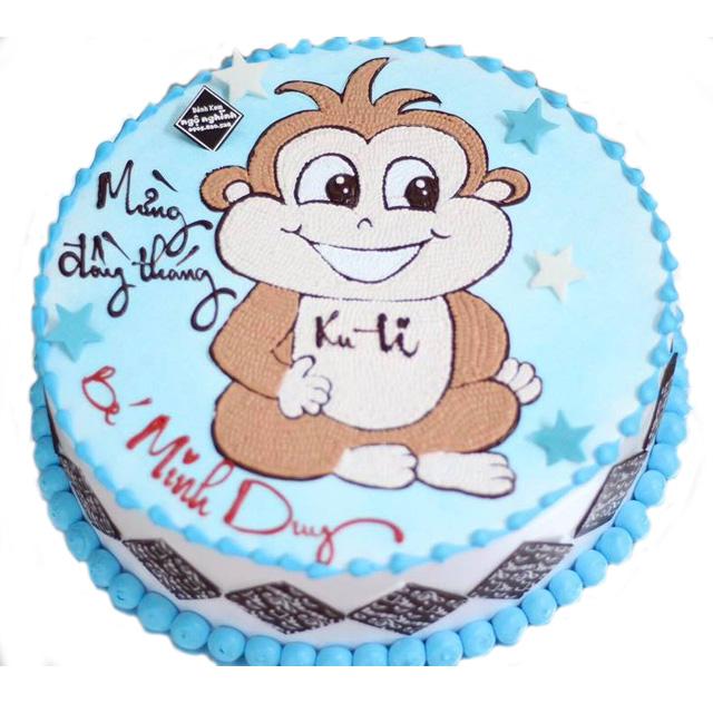 Ảnh bánh sinh nhật hình con khỉ