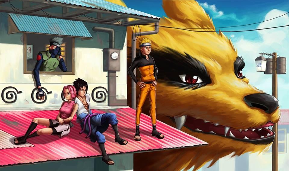Hình 3D nhân vật trong naruto