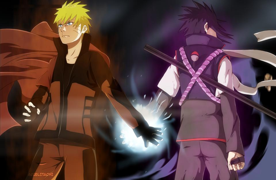 Hình ảnh 3D naruto và sasuke