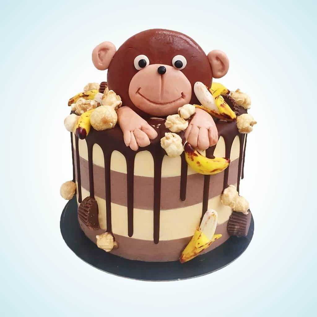 Hình ảnh bánh sinh nhật con khỉ
