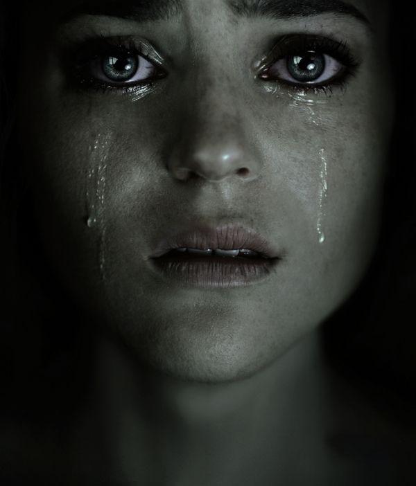 Hình ảnh buồn khóc trong đêm