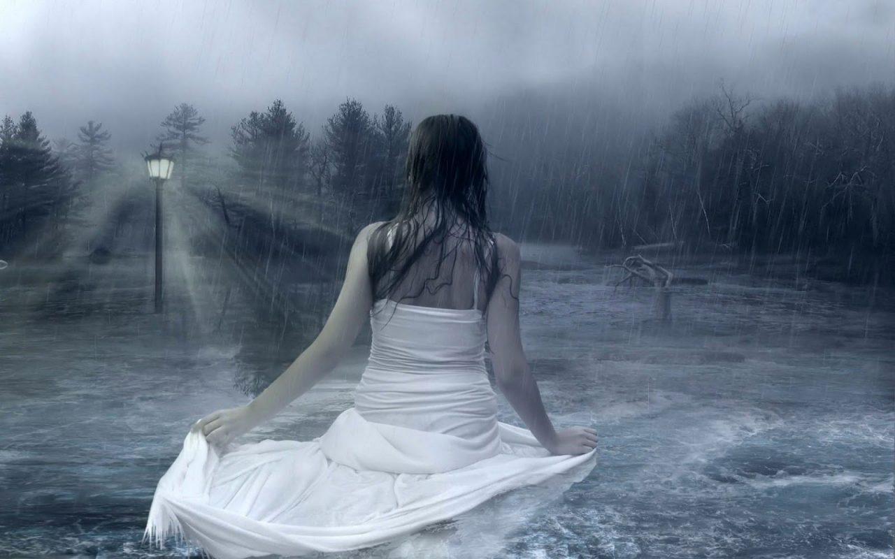Hình ảnh girl buồn khóc dưới mưa