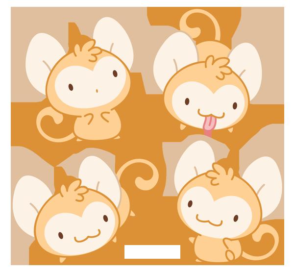 Hình ảnh khỉ chibi